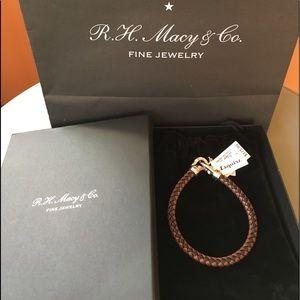 Other - Esquire Men's leather bracelet